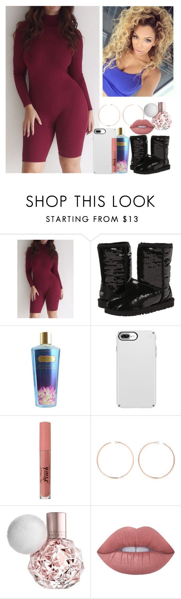 """""""Block Game Strong Asf Lmao"""" by melaninmonroee ❤ liked on Polyvore featuring UGG Australia, Victoria's Secret, Anita Ko and Lime Crime"""