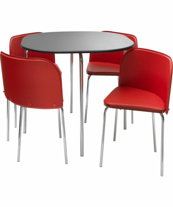 Buy Hygena Amparo Black Dining Table And 4 Red Chairs At Argoscouk