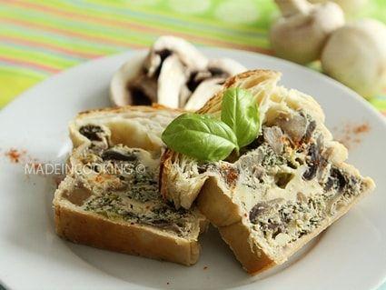 Pâté en croûte aux champignons