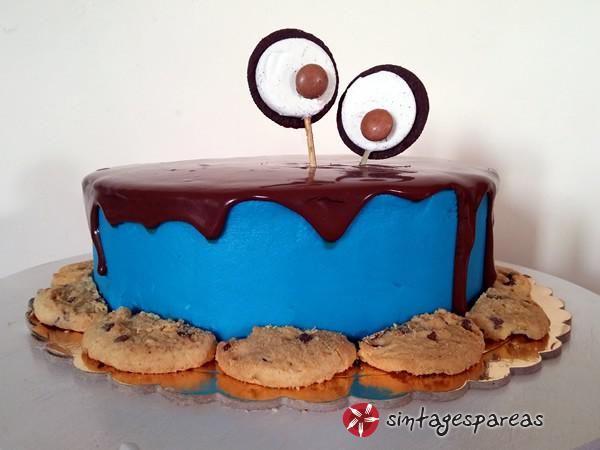 Εύκολη τούρτα cookie monster #sintagespareas #tourtacookiemonster