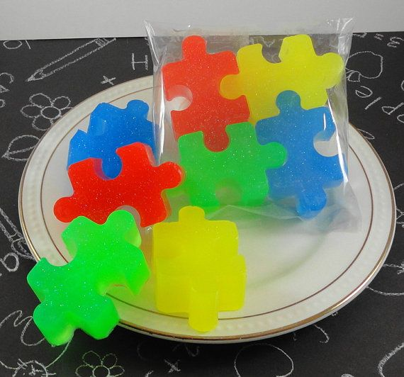 Soap Jigsaw Puzzle Soap  Primary Colors  Party Favor by SoapGarden