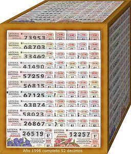 a ano completo 1996 loteria nacional del jueves