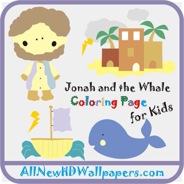 Jonah And The Whale Coloring Page Colors