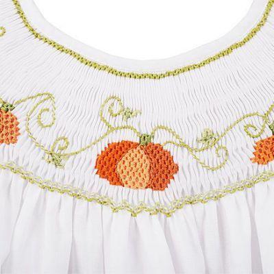 Fall pumpkins - pretty stitching