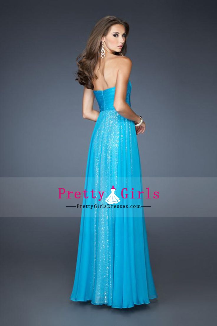 Shimmery Sleeveless A Line Empire Waist Prom Dresses Chiffon With Beading And Ruffles CAD 201.14 PGDP51RQLS7 - PrettyGirlsDresses.com