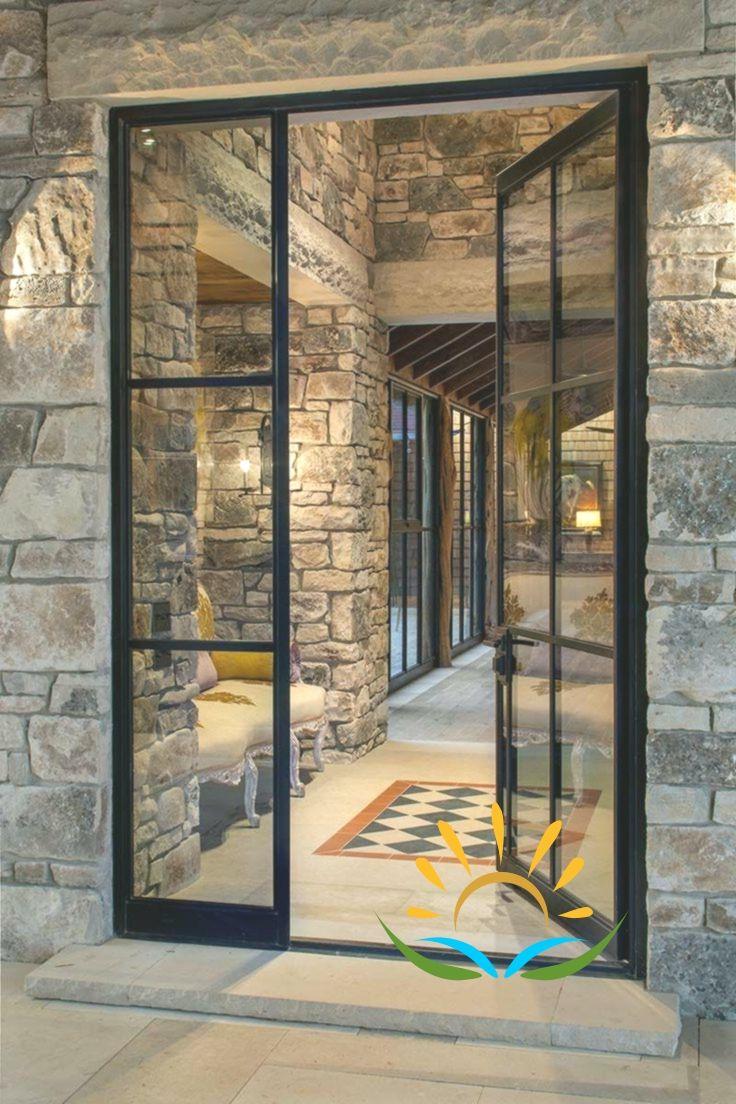 7 Amazing Black Front Door Ideas Frontdoor Frontdoorideas Black Blackfrontdo Black Front Doors Glass Door Painted Front Doors