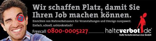 Banner Ludwigsburger Trommeltage www.halteverbot.de