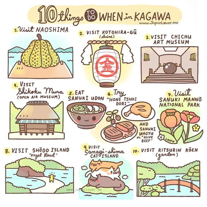 Planning to go to Japan? Why not visit Kagawa Prefecture! Here are 10 things you can do there (there are lots more!)
