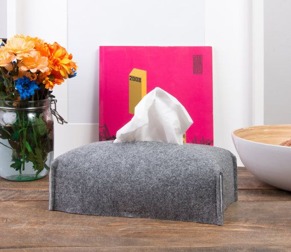 Rectangle tissue box cover Kleenex box holder by POPEQ on Etsy