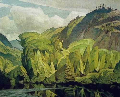 'On The York River' by Canadian painter A.J. Casson (1898-1992). via Art Country Canada #LandscapePaintings