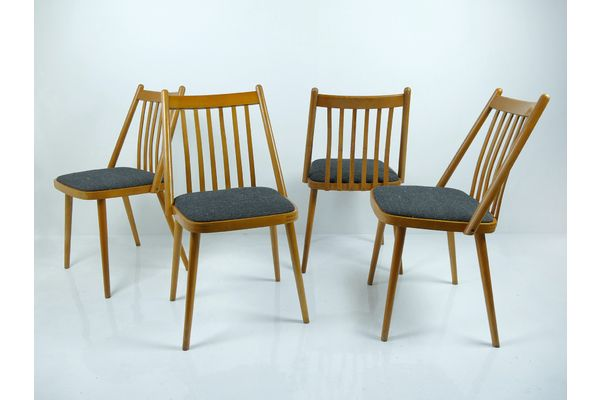 Vintage Hungarian Dining Chairs By Gábriel Frigyes, Set Of 4 Or 6   vinterior.co