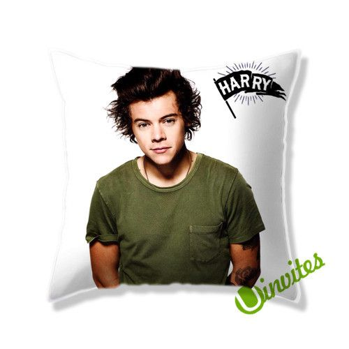 1 Direction Harry Square Pillow Cover