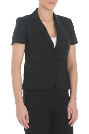 Basque - Technical Sateen Work Jacket Short Sleeve | Myer