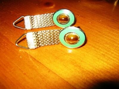 Green enamel and tiger eye stone mesh cuff links..  in my eBay store NOW!: Mesh Cuff, Tiger Eyes, Stone Mesh, Cuff Links, Green Enamel