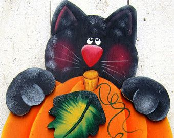 Halloween Bat Yard Sign Halloween Yard Art by RoseArborCrafts
