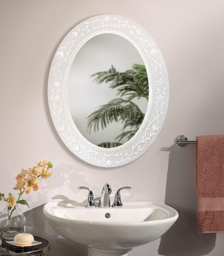 Fuschia oval bathroom mirror bathroom mirrors pinterest oval bathroom mirror bathroom Small bathroom mirror design