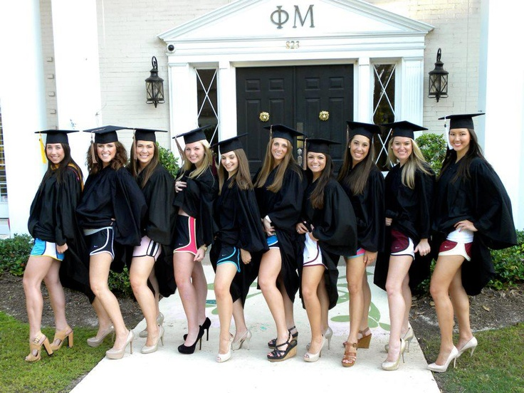 Probably the cutest idea for a graduation photo.  Norts!