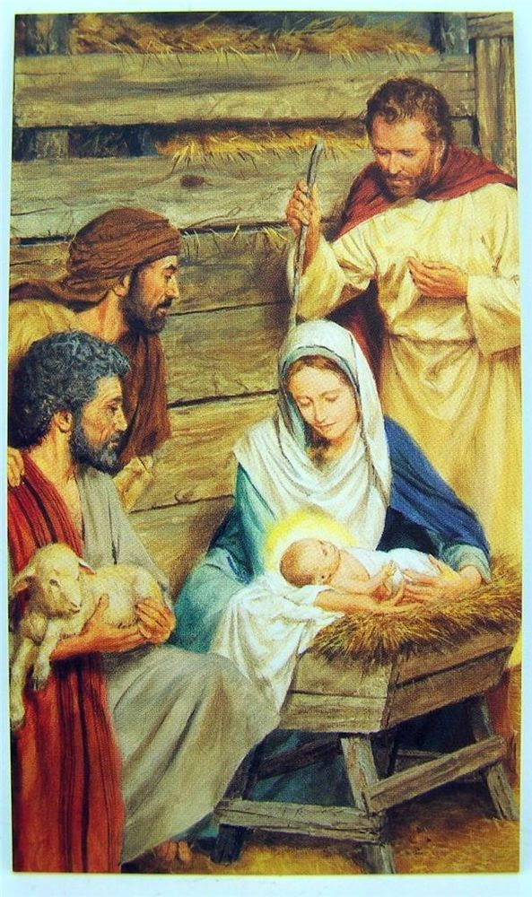 A Christmas Blessing Holy Family Nativity 5 Quot Card Window