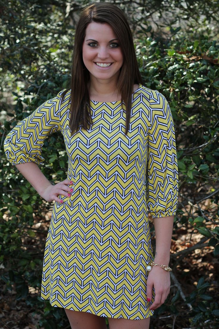 tres carmen - Hourglass Lemon/Navy Tunic, $47.00 (http://www.trescarmen.com/hourglass-lemon-navy-tunic/)