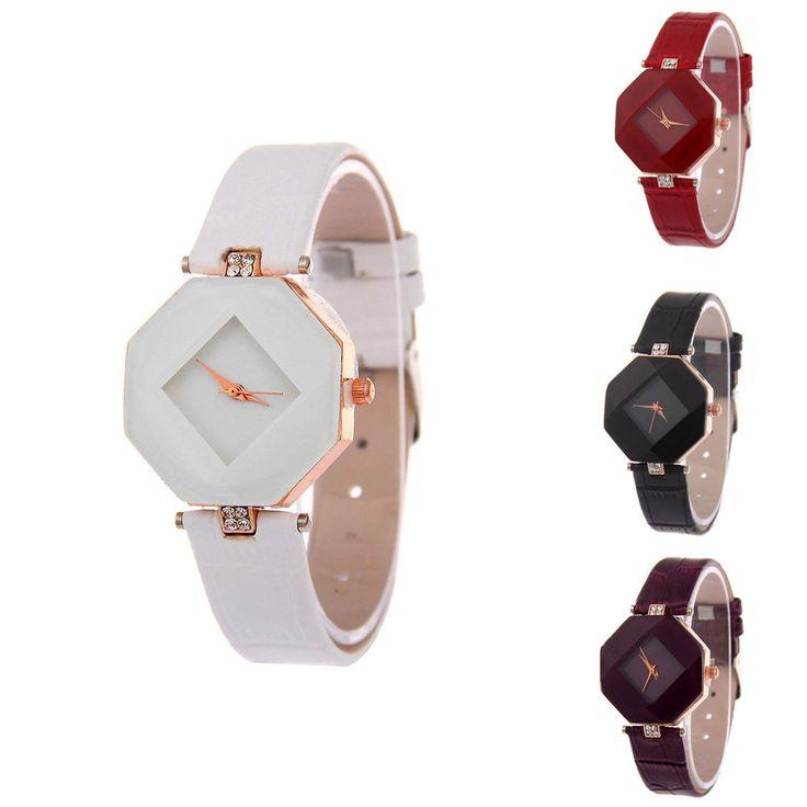 Damen Armbanduhr Leder watch Uhr analog Quarzuhr Varianten Design Damenuhr neu
