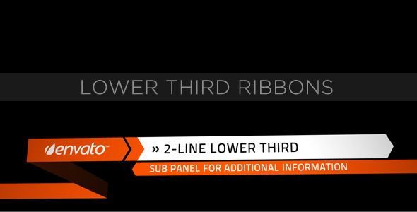 Lower Third Ribbons customizable After Effects lower third project template for video.