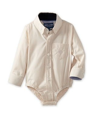 57% OFF Andy & Evan Baby Oxford Shirtzie (Light Beige)