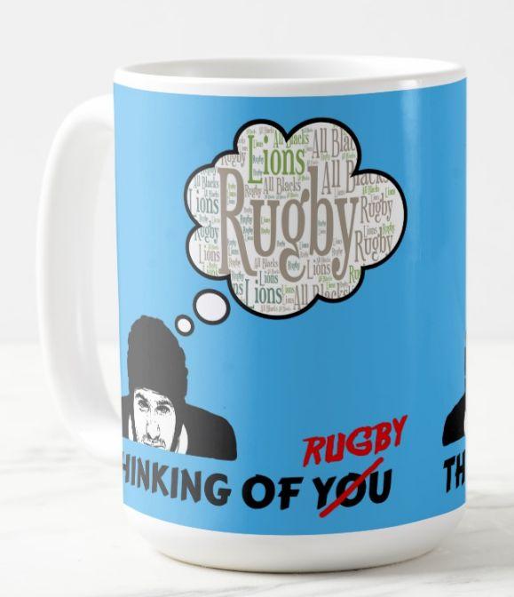 thinking of you rugby mug