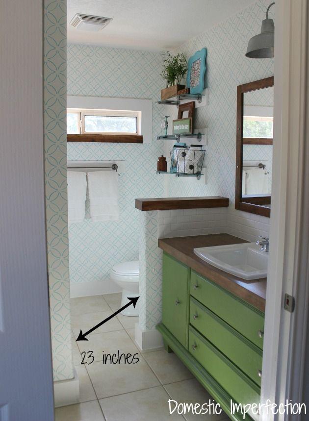 Narrow master bathroom bathrooms pinterest for Narrow master bathroom