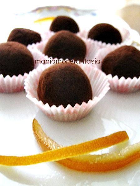 Tartufini di cioccolato all'arancia