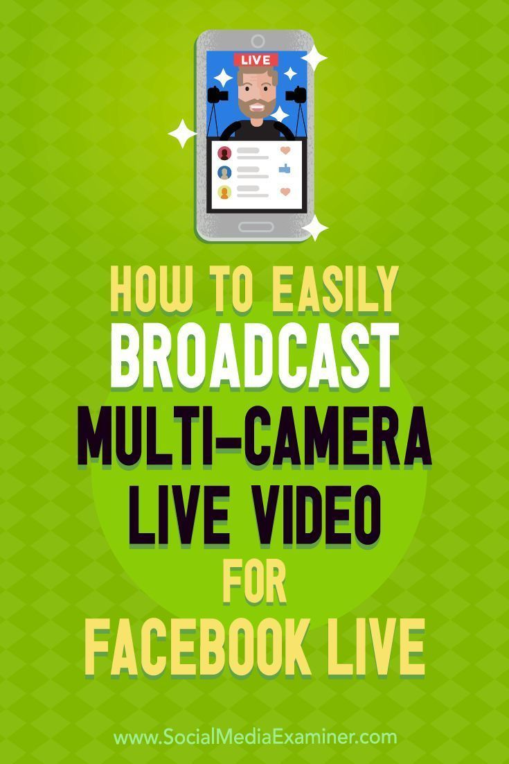 Do you want to improve the quality of your live videos?  Wondering how to integrate visuals and work with multiple camera angles?  In this article, youll discover how to broadcast professional-quality live video to Facebook and YouTube. #socialmedia #so