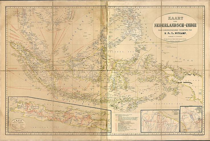 Map of the Dutch East Indies in 1893