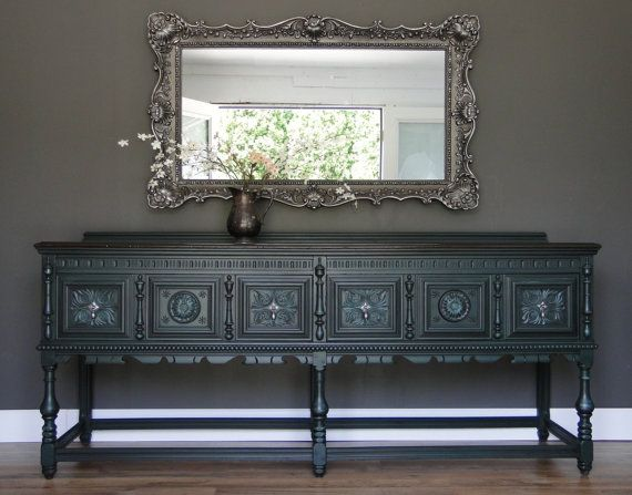 Sold Large Antique Ornate Buffet Sideboard Entry