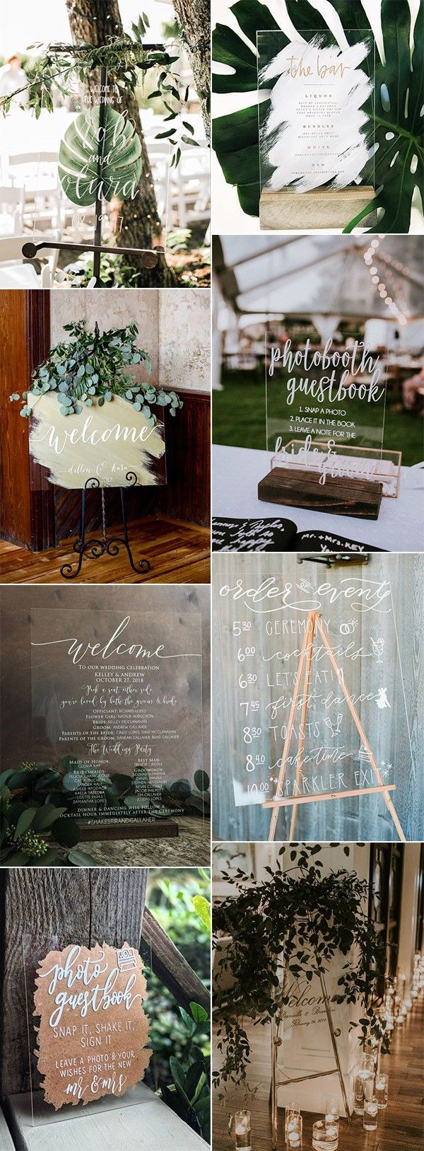 Wedding decorations ideas at home january 2019  Chic Acrylic Wedding Signs to Love for  Trends  Wedding