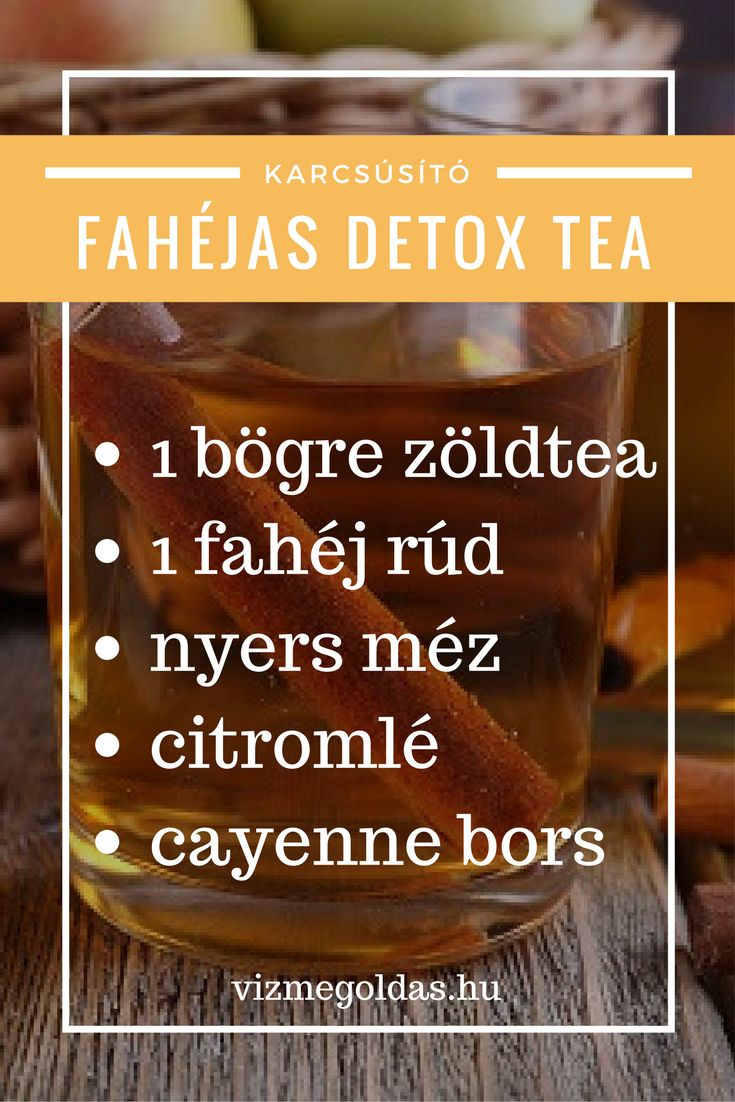 Fahéjas detox tea - tovább receptekért kattints a linkre!
