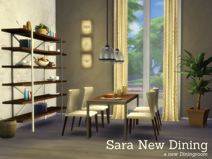Sara New Dining A Diningroom To Match The Other Sets Found In TSR Category Sims 4 Room