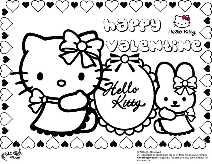 for kids who love sanrio celebrating valentine by coloring these hello kitty valentine coloring pages can be perfect description from teamcolors