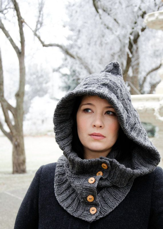 Free Knitting Pattern For Hat Scarf Combo : Knit hood/scarf combo. Accessories Pinterest Wool, Grandmothers and Fie...