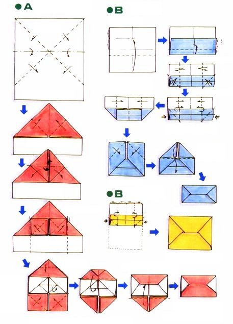 diagramme d 39 origami d 39 enveloppe simple pratique pinterest origami et simple. Black Bedroom Furniture Sets. Home Design Ideas