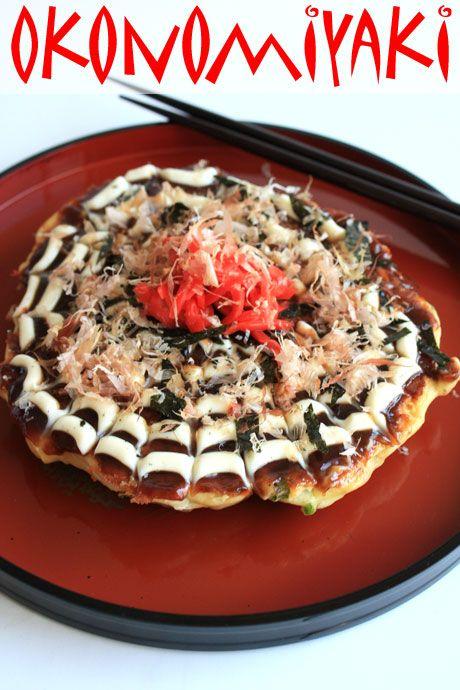 okonomiyaki japanese pizza pancake....mmmm yummy! Not Quite Nigella