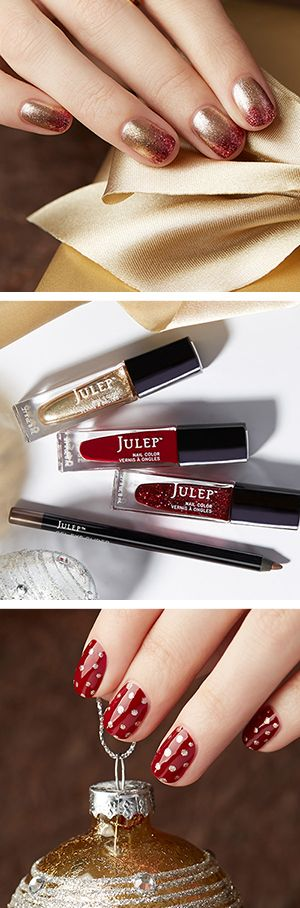 Merry and Bright!  Get the colors used in these holiday nail looks in a free beauty box when you join Julep. Offer ends 12/31/15.