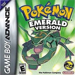 Pokémon Emerald (Nintendo), GBA; The game, an updated version of Ruby & Sapphire, was released in North America on May 1, 2005. Although the gameplay is as that of Ruby & Sapphire, Emerald introduces new features. The plot is modified; both Team Magma & Aqua are villains. A new character named Scott is also introduced in this game. He is secretly the creator of the Battle Frontier & follows you throughout the game. The game has an aggregate rating of 77% on Game Rankings.