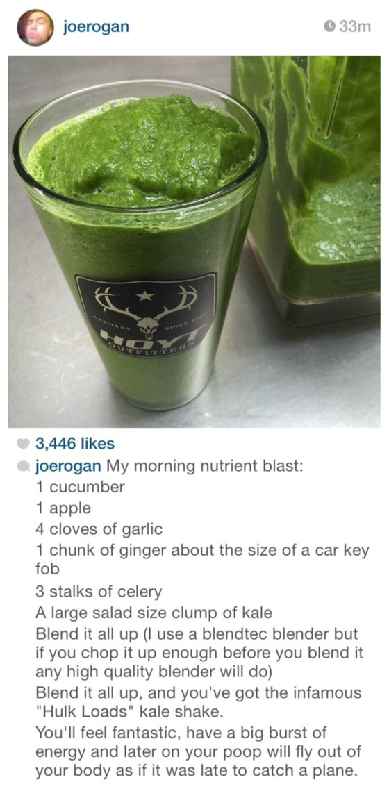 Joe Rogan's Kale Shake Recipe