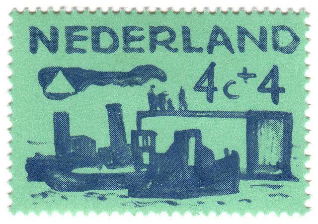 Netherlands postage stamp: sea green by karen horton, via Flickr