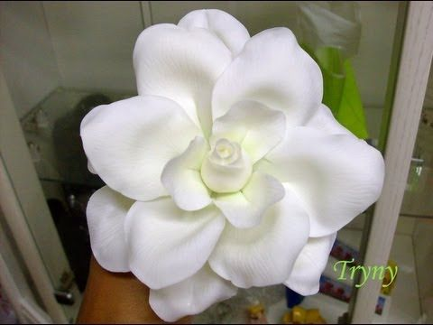 youtube how to make cold porcelain flowers