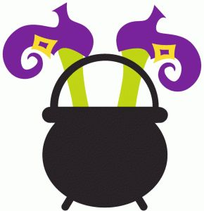 Silhouette Online Store - View Design #49153: cauldron with witch's feet