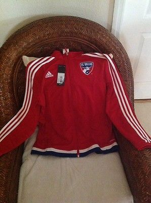 Adidas FC Dallas mls soccer  Track anthem jacket  new with tags size L women's