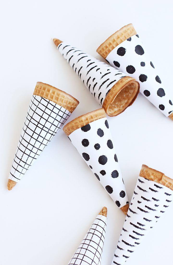 Printable Ice Cream Cone Wrapper