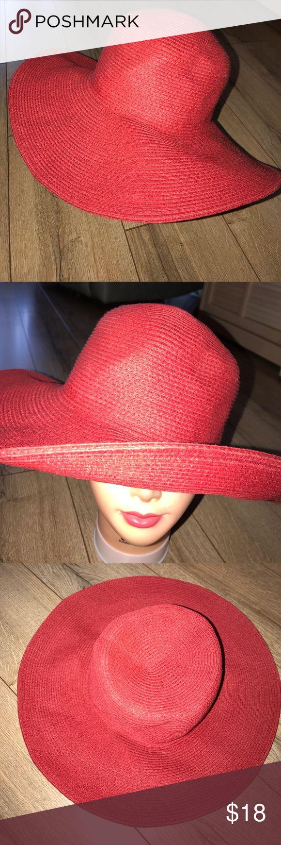 Bijoux red floppy summer hat Red floppy straw hat bijoux terner Accessories Hats