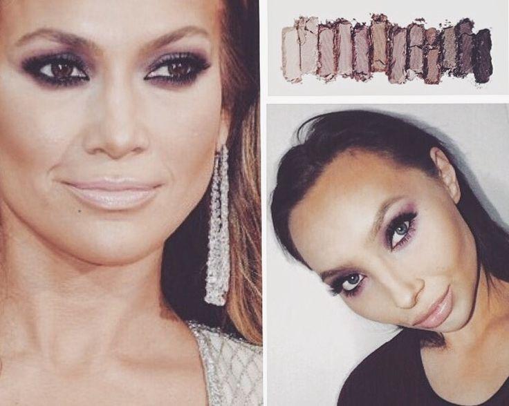 Jlo make up urbandecay naked3 Hollywood makeup tutorial