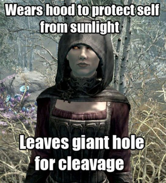 Video game logic...there were some giant holes in this DLC.
